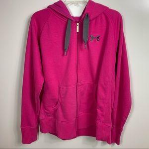 Under Armour hoodie pink  sweatshirt women's large